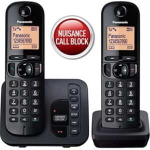Panasonic KX-TGC222EB Digital Cordless Phone – Twin Handsets (Used)