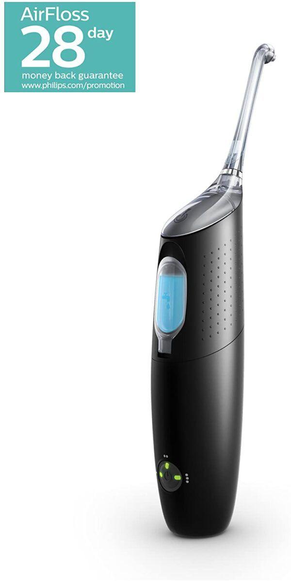 Philips Sonicare Black AirFloss Pro Power Flosser & Mouthwash – 3rd Generation (UK 2-Pin Bathroom Plug)