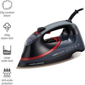 Morphy Richards 303125 Steam Iron Digital Precision Temperature Control, 3100 W – Black