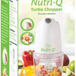Nutri-Q by Quest Mini Food Chopper with 0.5L Bowl, 2 Speeds with Turbo Boost, Mini Food Processor for Vegetables, Onion, and Salad – 260W
