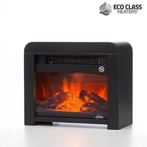 Eco Class Heaters EF 1200 W Electric Micathermic Heater – Black